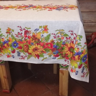 Tablecloth from the mat