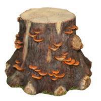 "Remeko / Decorative item ""Large stump with mushrooms"""