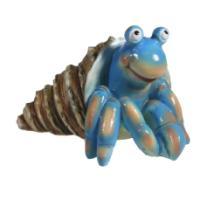 """Remeko / Decorative figure """"Hermit crab"""" (blue) L20W25H15"""