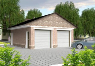 Frame garage option 1, the project is 245 for 2 cars, a Prod