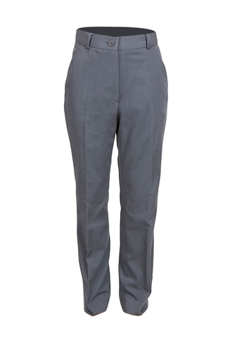 The standard-fit pants for girls gray