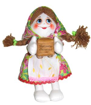 "Gift workshop / Textile doll ""Dasha in a kerchief"""
