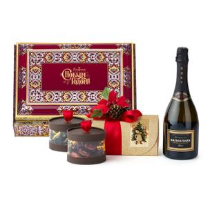 "Box 002 Gift set: chocolate candy ""Assorted"", candy, handmade chocolates 1660г"