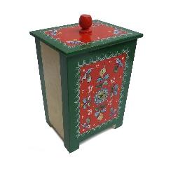 "Box wooden ""Shenkurskiy painting"" 22 cm"