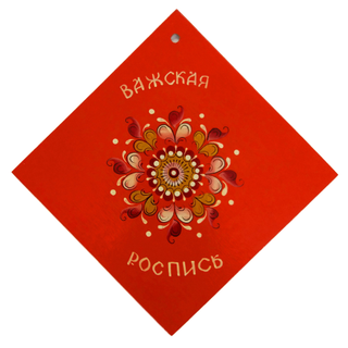 """Stand wooden """"Shenkurskiy red painted"""" square 14 cm"""