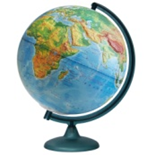 Earth globe physical relief