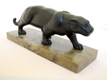 """Sculpture """"Panther"""" hand-carved stone"""