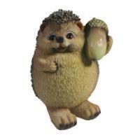 "Remeko / Decorative figure ""Hedgehog with an acorn"" L10,5W10H15,5"