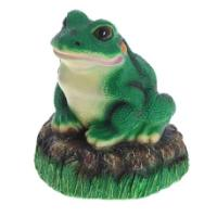 "Remeko / Decorative article ""Frog on a stone"", H22 cm"