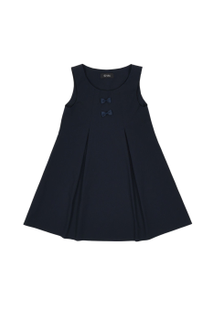 School sundress in dark blue with bows