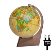 """Earth globe political """"Retro-Alexander"""" on a triangle with backlight"""