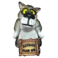 "Remeko / Decorative figure ""Wolf"" Come in if sho ""L37W38H55cm"
