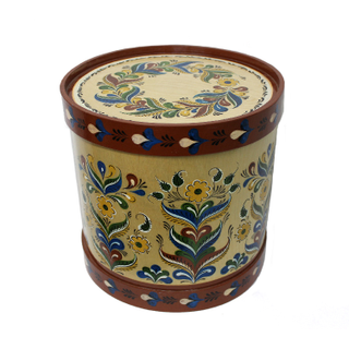 "Wooden box with lid ""Uftyuzhskaya painting"" round 27.5 cm"