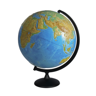 Physical relief globe diameter 420 mm on a plastic stand