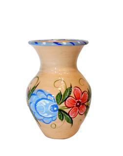 Vase Vasilisa clay painted
