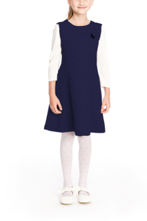 Sleeveless knitted school blue