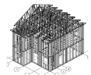 Frame country houses Zhilino option 2, the project 632, the Prod