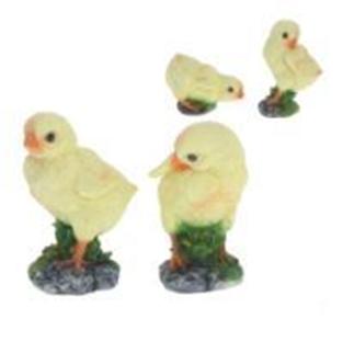 """Remeko / Decorative garden figurine """"Chicken"""", 4c., H 15 cm"""