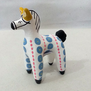 Dymkovo clay toy Horse with yellow ears